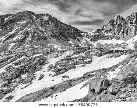 Trekking Mount Whitney - B&W