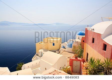 Oia Village In Santorini Greece