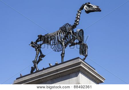Gift Horse Sculpture On The Fourth Plinth In Trafalgar Square