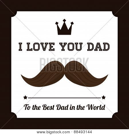 Happy fathers day card design.