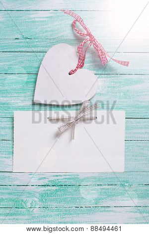 Decorative Heart And Empty Tag