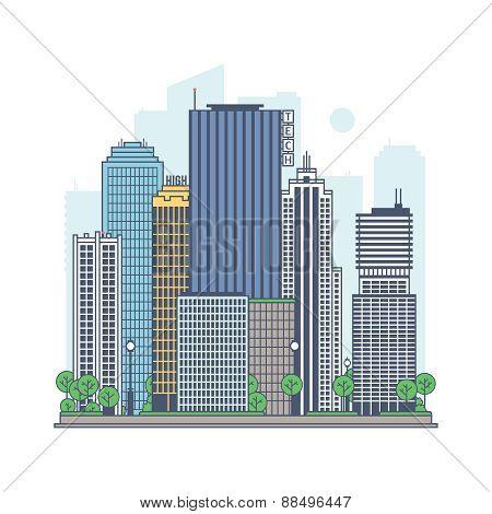 Modern metropolis.