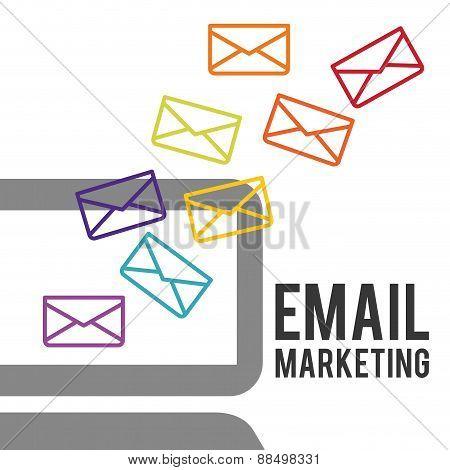 Email marketing design background
