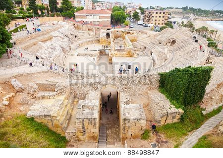 The Historical Amphitheater Of Tarragona