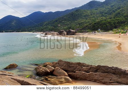 Beach Praia Do Cepilho, Mountains, Trindade, Paraty, Brazil