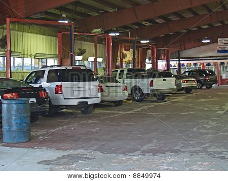 Auto Repair Bays in a Service Garage