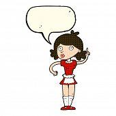 stock photo of maids  - cartoon surprised maid with speech bubble - JPG