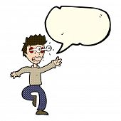pic of terrifying  - cartoon terrified man with eyes popping out with speech bubble - JPG