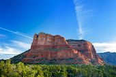 pic of butts  - View of the famous Bell Rock at the Courthouse Butte loop in Sedona Arizona AZ an American landmark - JPG