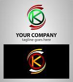 image of letter k  - Set of Letter K logo icon vector - JPG