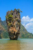 stock photo of james bond island  - Ko Tapu island in the Ao Phang - JPG