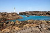 image of arid  - The bay of Salinas in the town of Sao Jorge on the island of Fogo Part of Republic of Cabo Verde with its dry arid aroma during a sunny afternoon - JPG