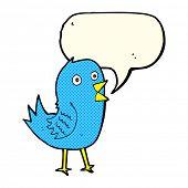picture of bluebird  - cartoon bluebird with speech bubble - JPG