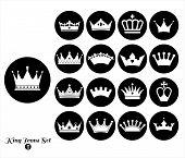 stock photo of crown jewels  - Crowns set  - JPG