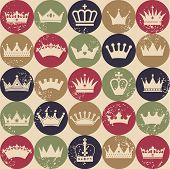 picture of crown  - Seamless crowns pattern - JPG
