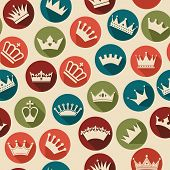 image of crown jewels  - Seamless abctract crowns pattern - JPG