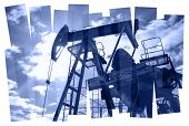 stock photo of composition  - Oil pump abstract composition background - JPG