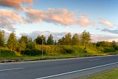 pic of early 60s  - Country road in the early summer morning - JPG