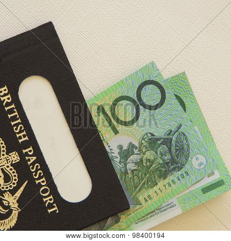 Australian Dollars and Passport