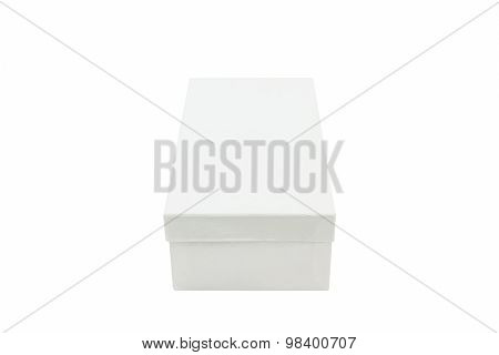 White Shoe Box On White Background.