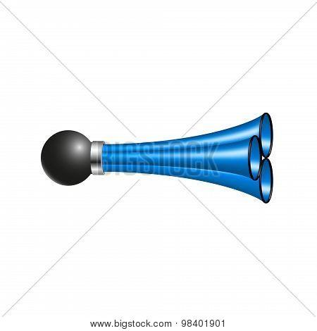 Triple air horn in blue design