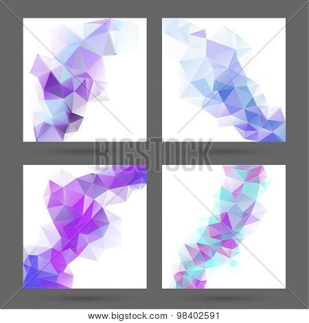 Abstract  background with polygonal elements.