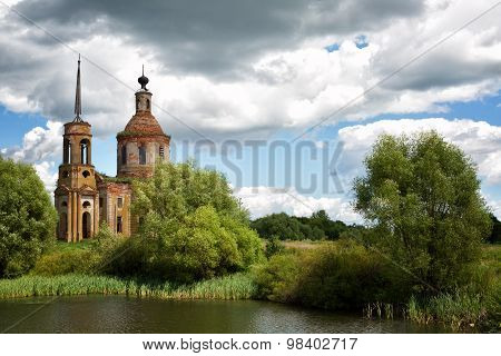Church Of The Ascension In The Village Of Skorodnoye (lipetsk Region), Russia