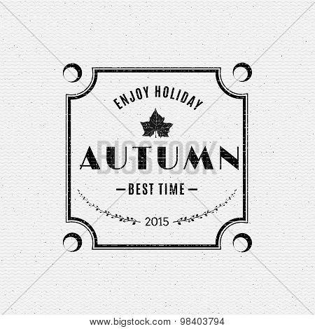 Autumn badges logos and labels for any use