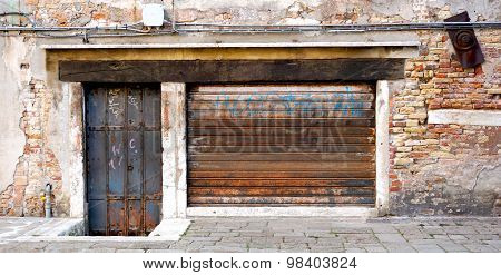 Old And Rustic Metal Doors
