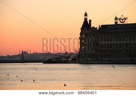 Haydarpasa At Sunset