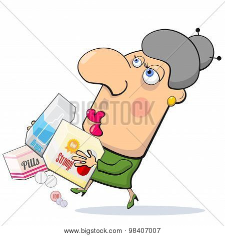 Woman With Medicines