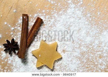 Star With Cinnamon Sticks And Star Anise V1