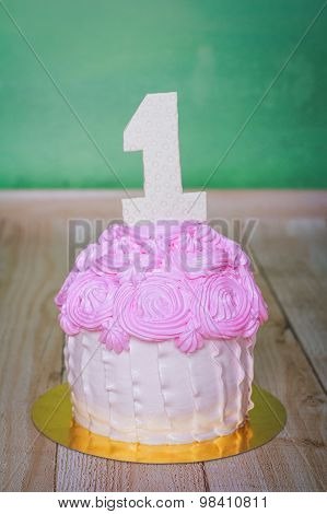 Birthday Cake With Number One
