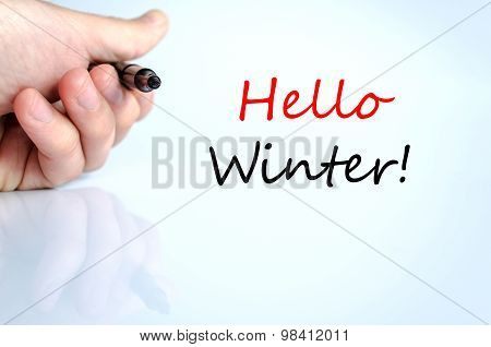 Hello Winter Text Concept