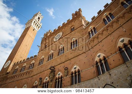 Campo Square In Siena, Italy
