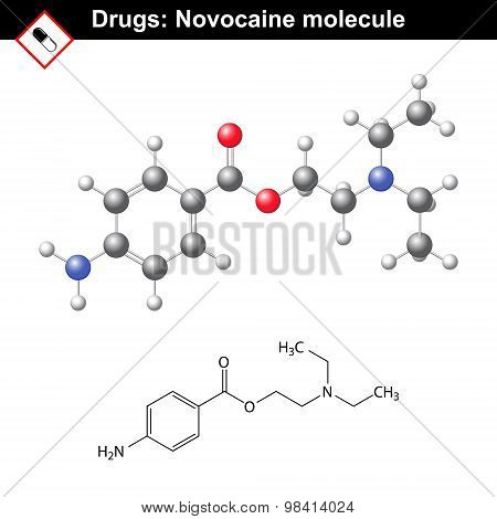 Novocaine Molecule - Anesthetic Agent