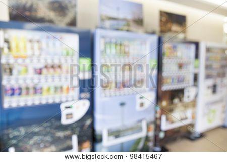 Blurred Image Of Vending Machine