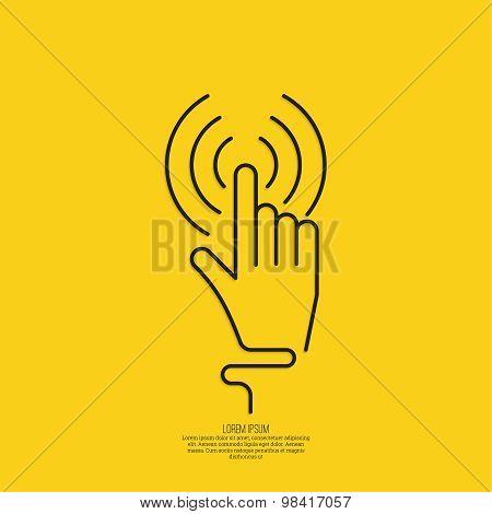 hand click