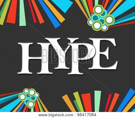 Hype Text Dark Colorful Elements