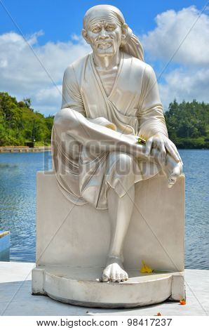 Grand Bassin Mauritius. Monk Statue