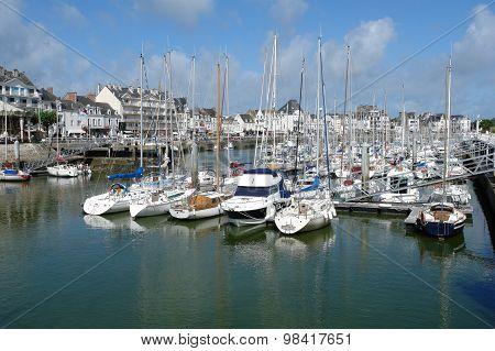 The Yachts Parking In La Pouliguen, Bretagne, France.