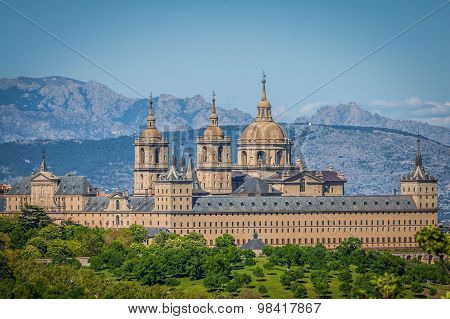 The Royal Seat Of San Lorenzo De El Escorial, Historical Residence Of The King Of Spain, About 45 Ki