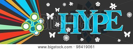 Hype Text Dark Colorful Elements Horizontal