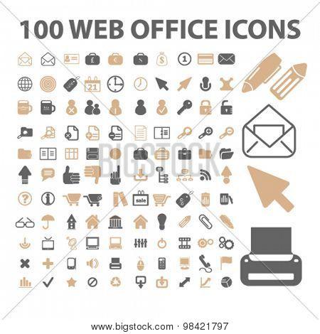 web office, internet icons