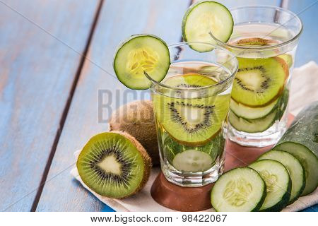 Infused Water Mix Of  Cucumber And Kiwi