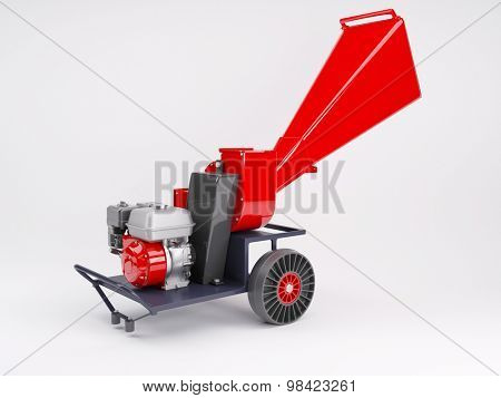 3d render of a garden shredder