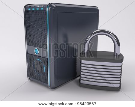 3D Render of PC Computer Tower