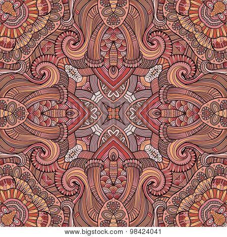 Abstract vector decorative ethnic seamless pattern