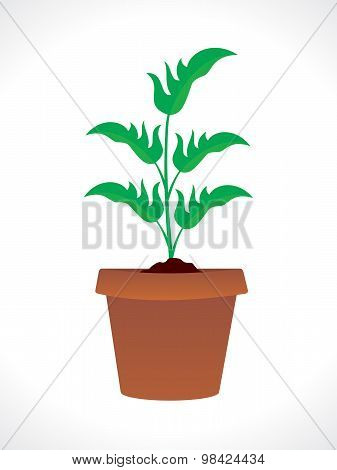 Abstract Plant With Pot