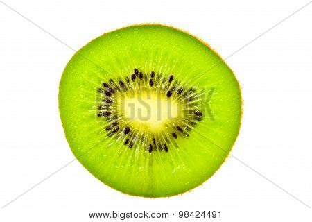 Kiwi Slices of kiwi fruit on white background